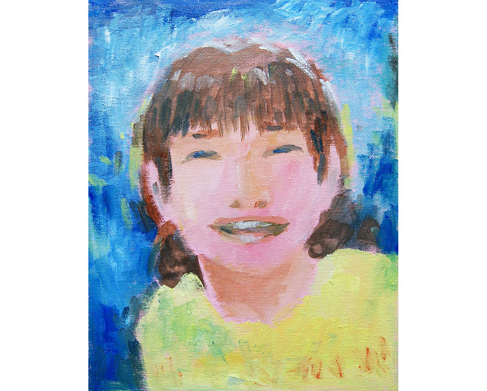 自画像を描こう!「思いっきりの笑顔で」