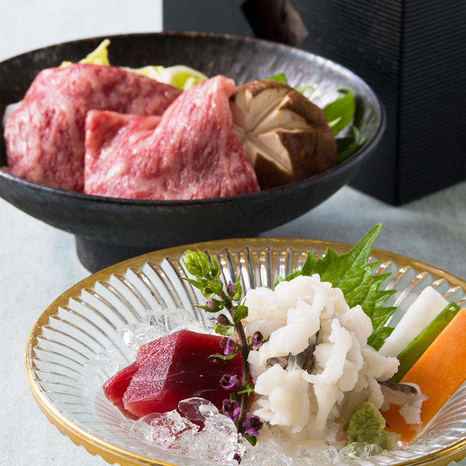 「堀川~鱧と黒毛和牛しゃぶ鍋~」