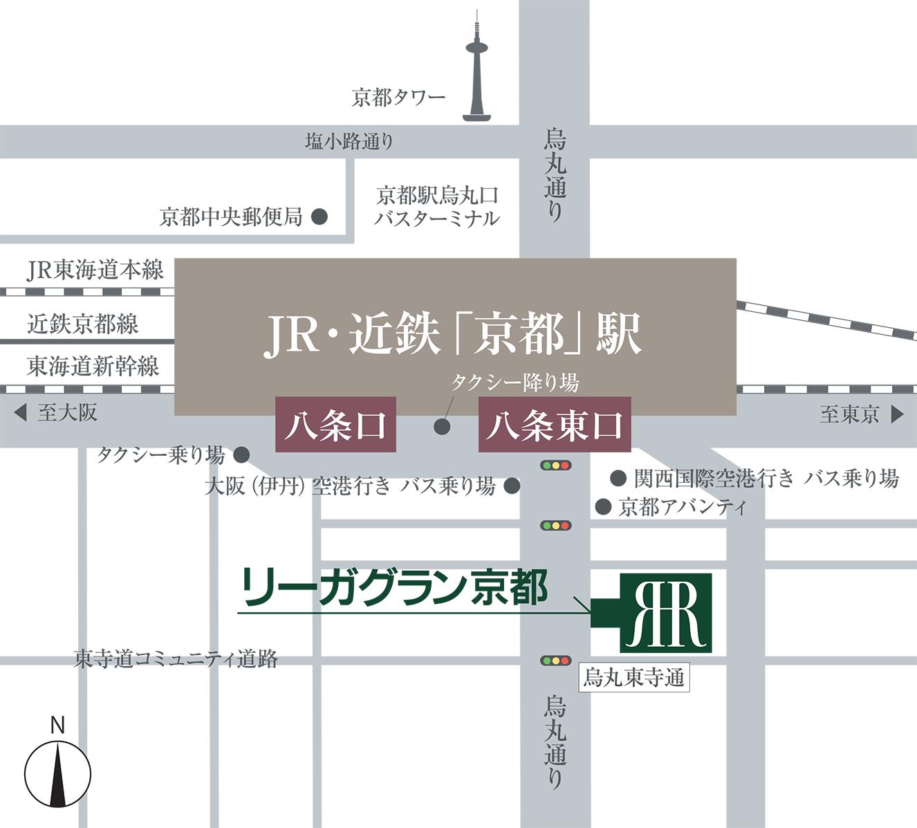 リーガグラン京都 地図
