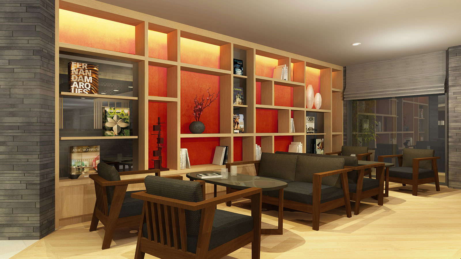 Exclusive lounge for hotel guest (3rd floor)