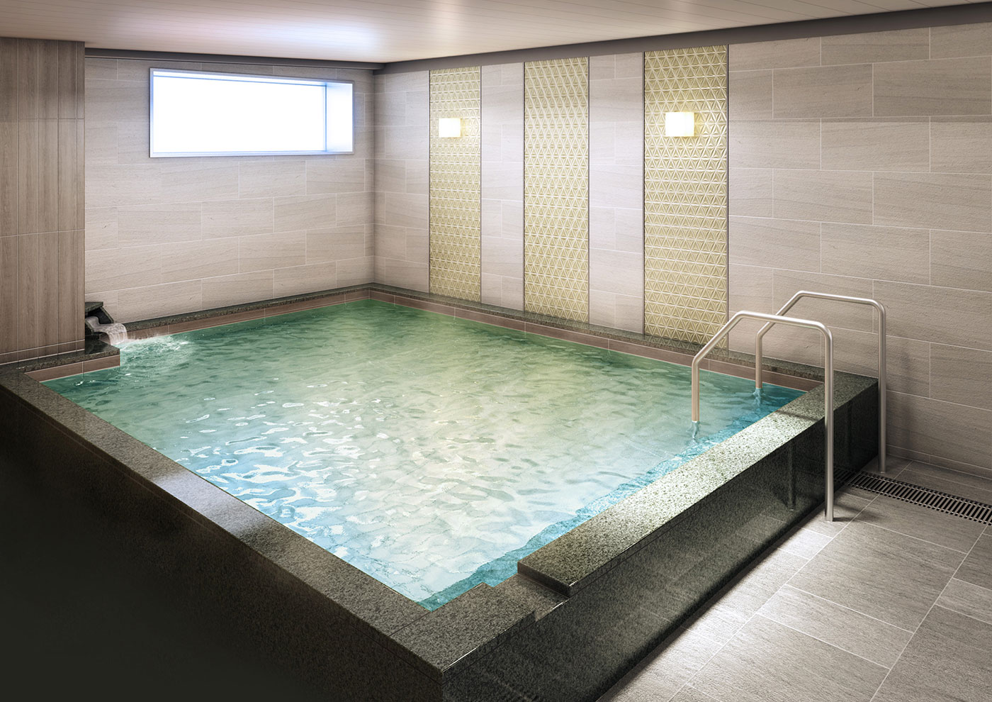 Large communal bath for relaxation (4th floor)