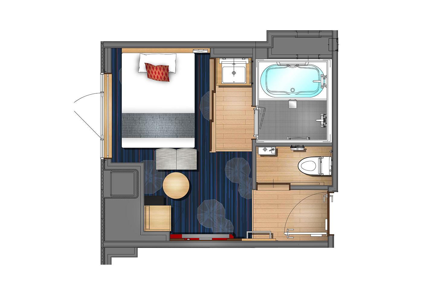 Standard Double(Guests per room:2)18.1㎡