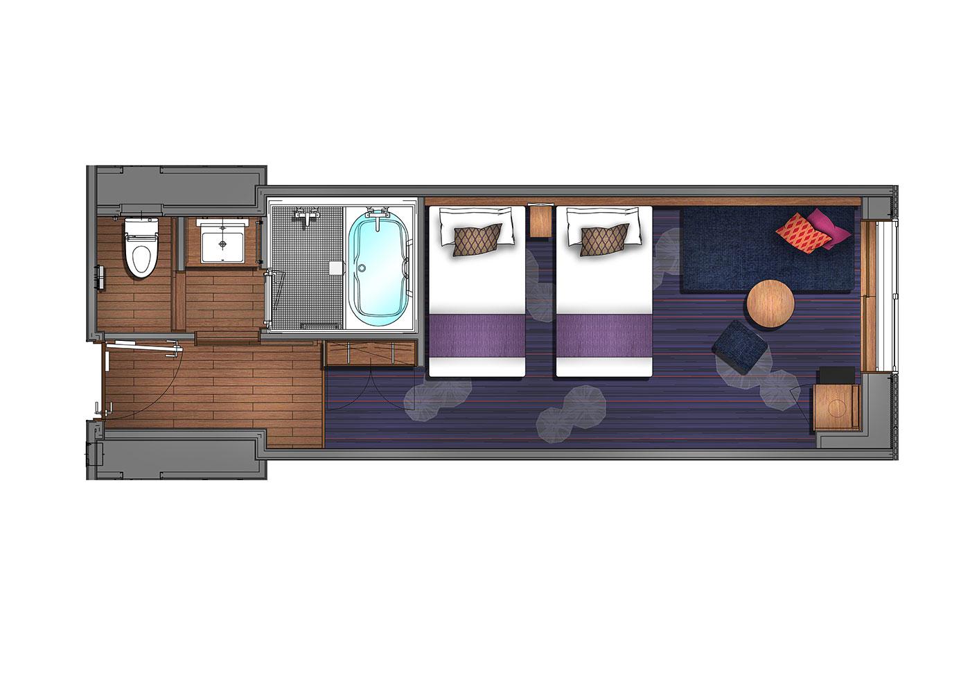 Superior Twin (Guests per room: 3) 26.4㎡