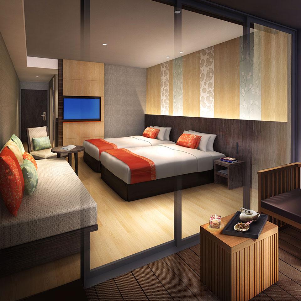 Premium Twin (Guests per room: 3) 28.8㎡