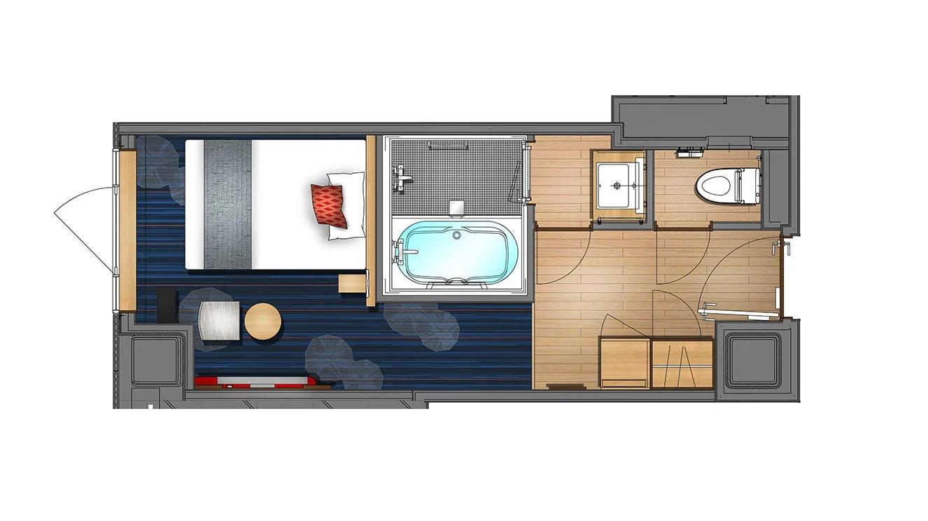 Single room(Guest per room:1)20.3㎡