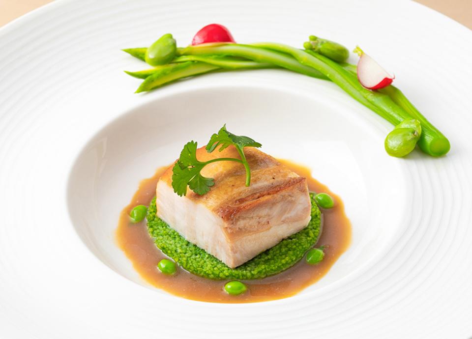 広島県産豚バラ肉のブレゼ シェリービネガー風味 イメージ