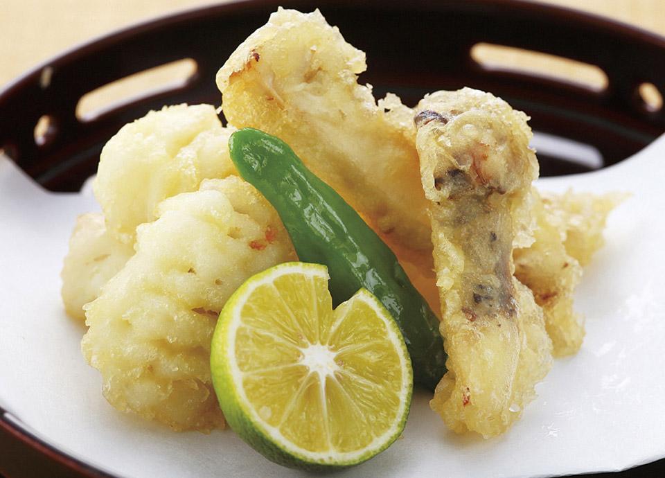 松茸と鱧の天婦羅 イメージ