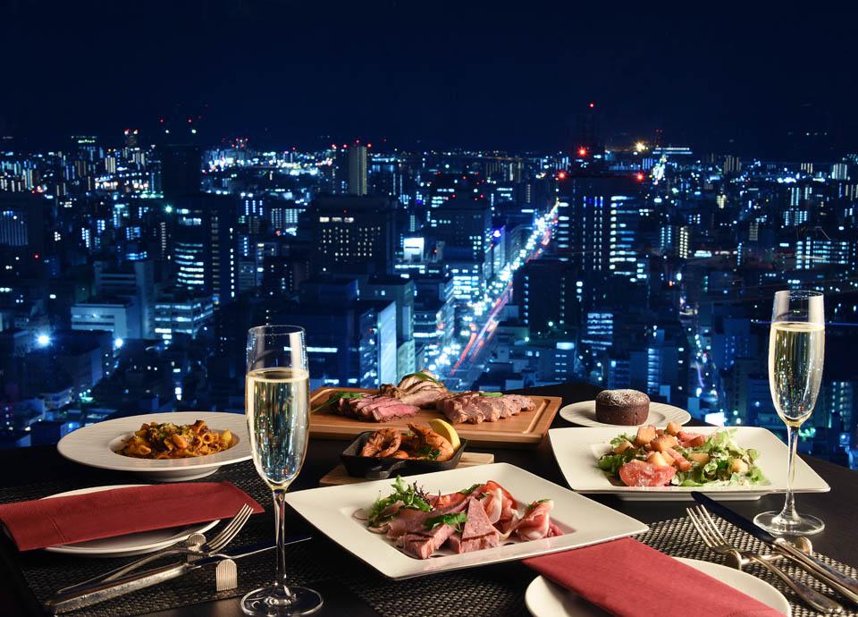 「アニバーサリーステイ」最上階の夜景とともに記念日ディナーを エグゼクティブフロアステイ