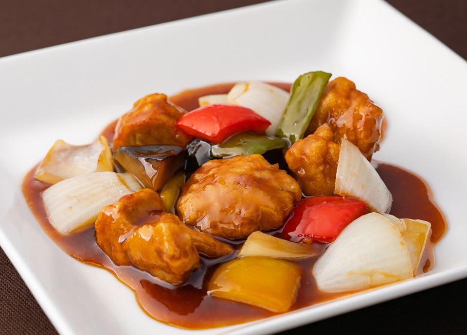 豚フィレ肉の酢豚 黒醋風味 イメージ
