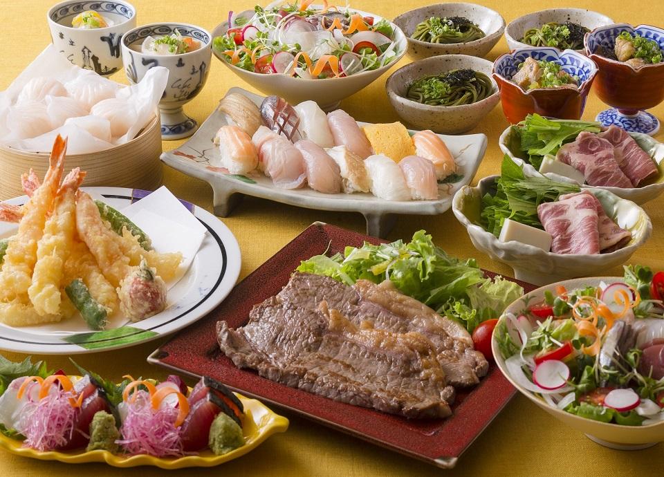 日本料理なにわ <br>オーダービュッフェ夕食付宿泊プラン