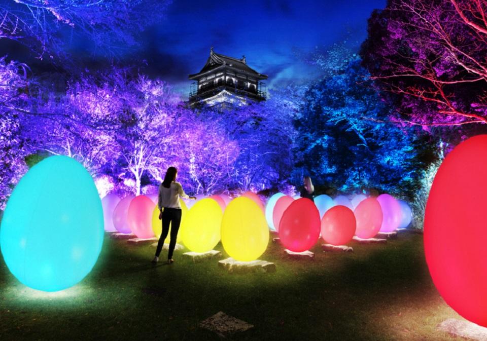 チームラボ 広島城 光の祭チケット付き 宿泊プラン