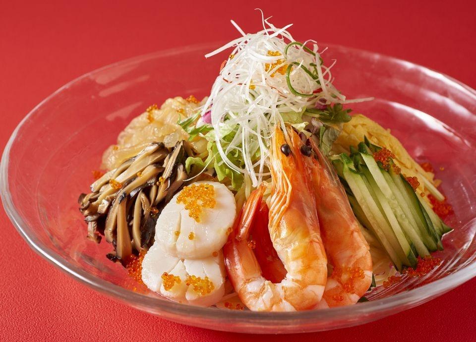 【夏季限定】<br class='pc_only'>海の幸入り五目冷麺<br class='pc_only'>冷やし担担麺