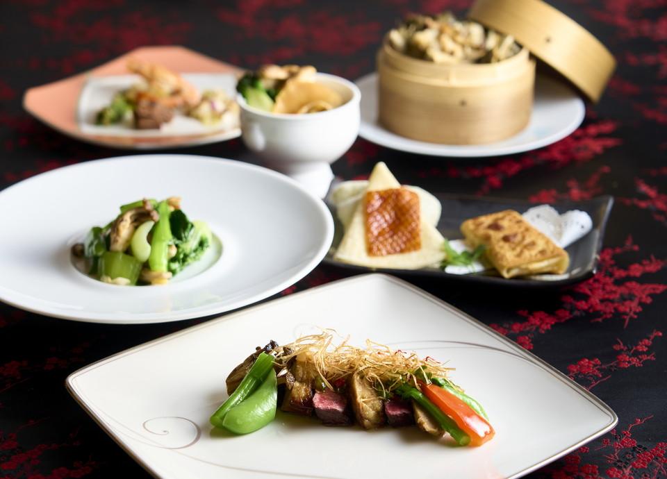 【本格広東料理】<br>松茸とふかひれ姿の蒸しスープや福岡県産牛フィレ肉など 豪華食材を愉しむ絶品ディナー