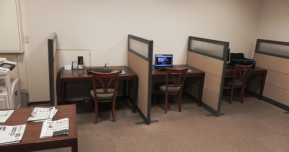 ビジネスサロン ご宿泊のお客様専用のビジネスサロンをご用意しております。