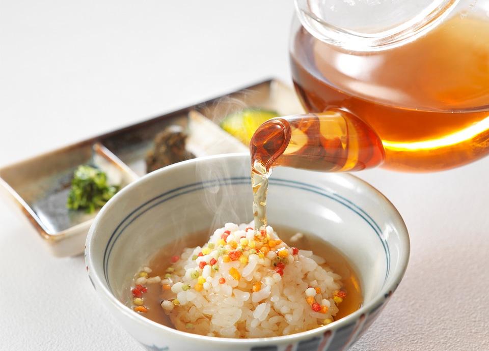 [おもてなしメニュー] お茶漬け ~お茶の佃煮とお漬物~ ※写真はイメージです。