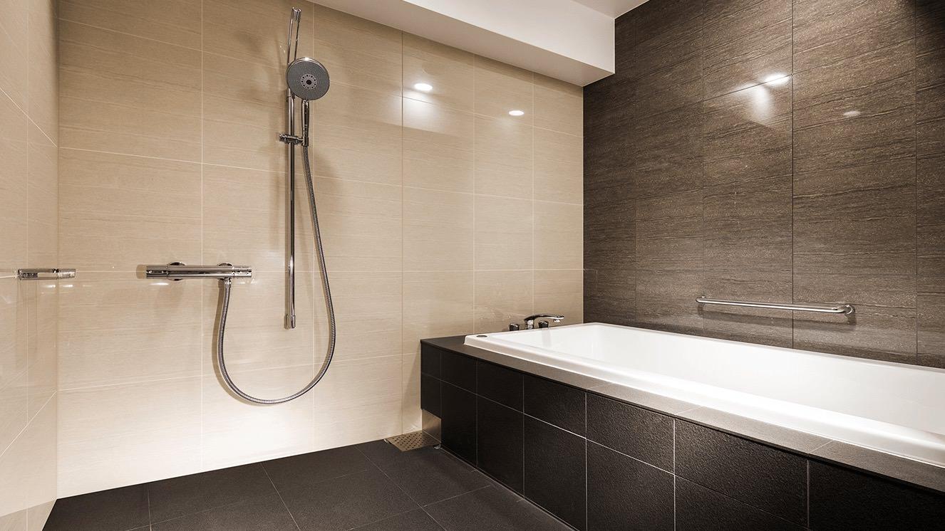 洗い場付のバスルーム