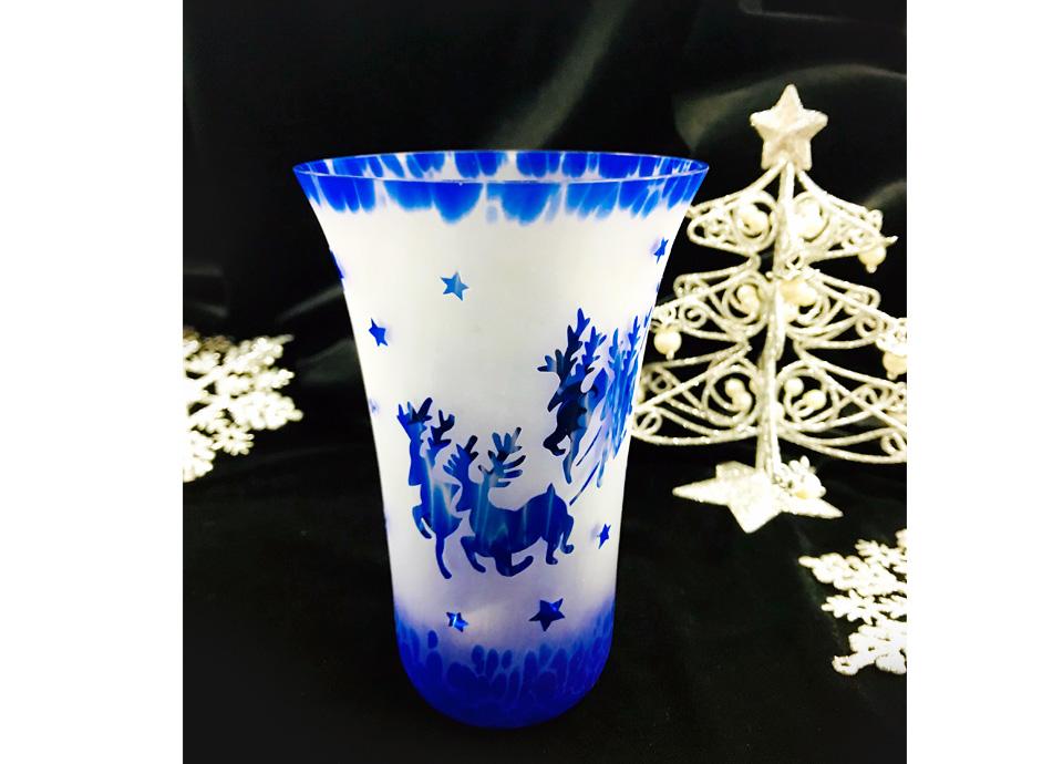 トナカイのクリスマスグラス 作品例