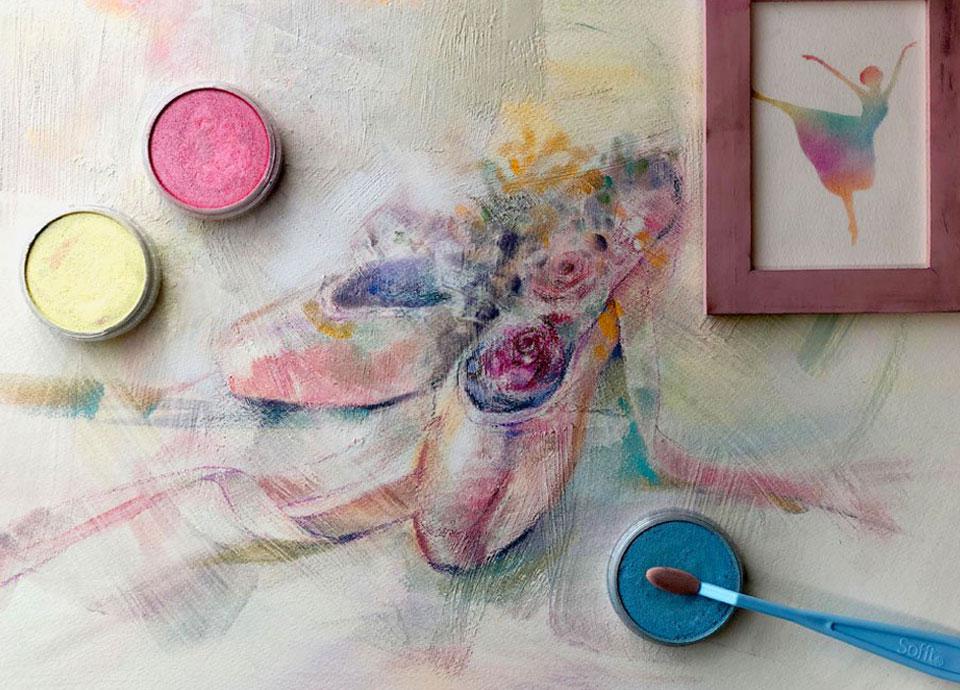パンパステル画で描く作品イメージ