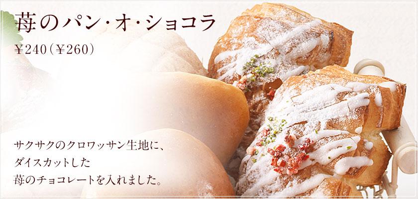 苺のパン・オ・ショコラ