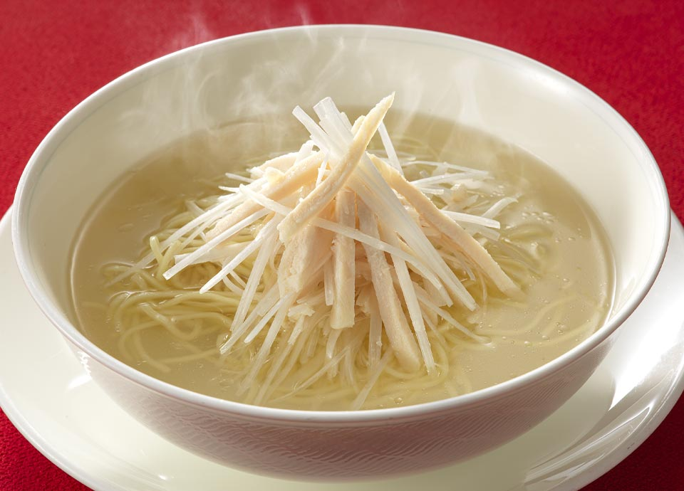 鶏と葱の細切りスープそば