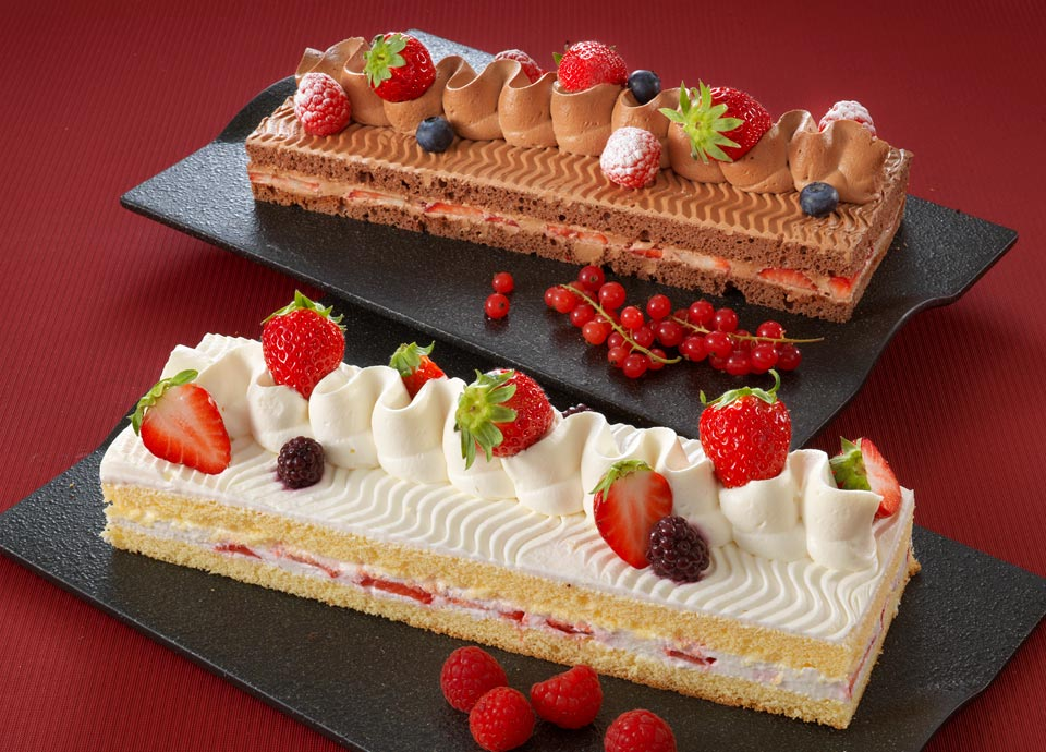 苺のショートケーキ&苺のチョコショートケーキ