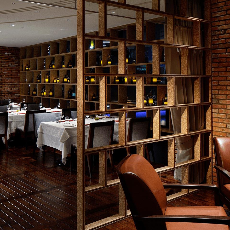イタリアンレストラン ベラコスタの店内