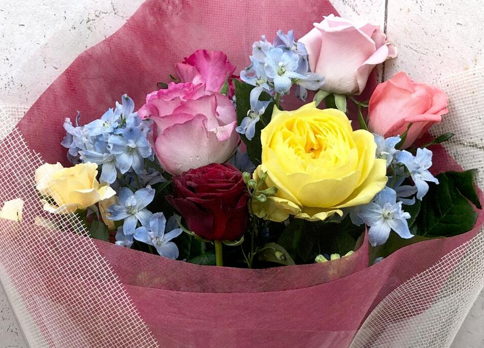 オプション バラの花束