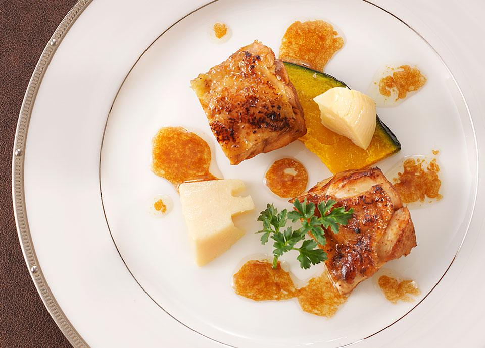 鶏腿肉のロースト<br>バルサミコ風味