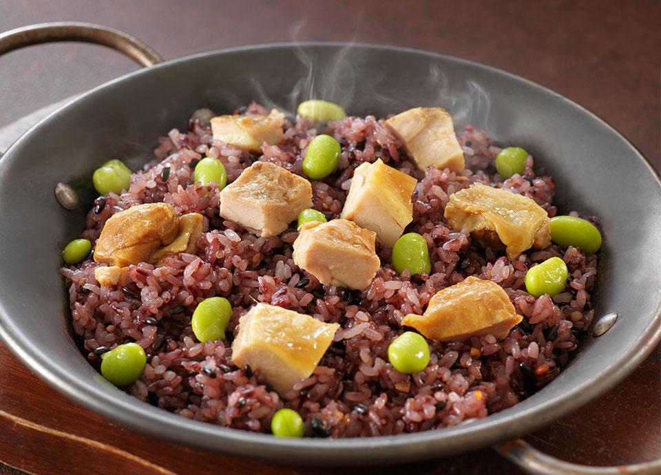 チキンの雑穀米ピラフ