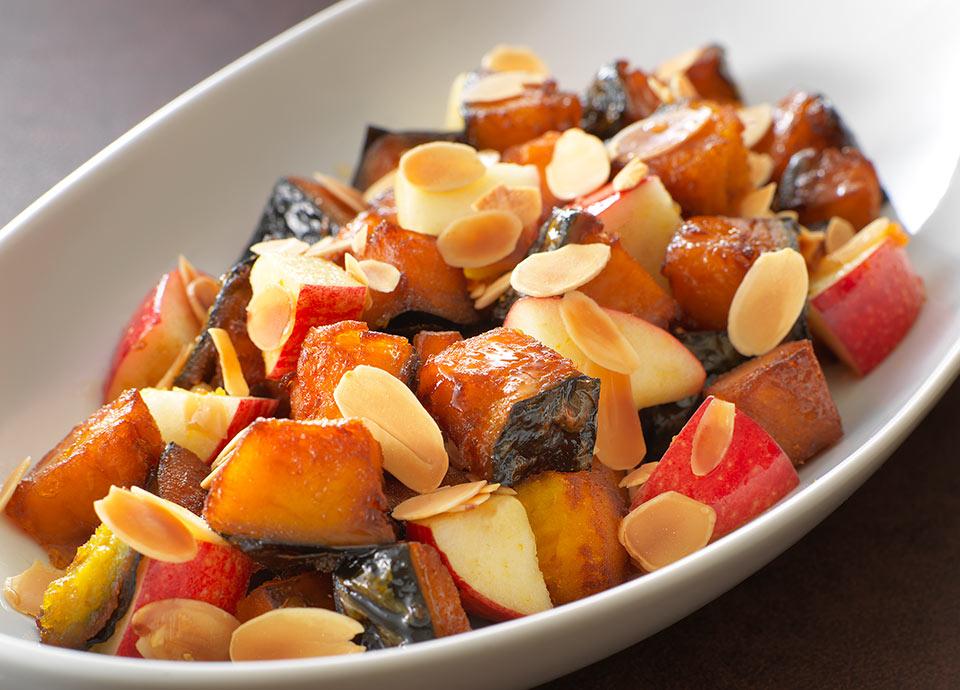 カボチャとリンゴのサラダ メープルシロップ風味