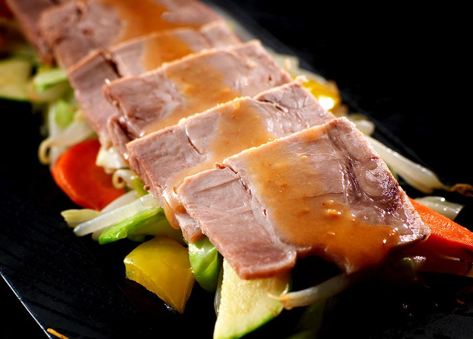 塩麹ポーク&スチーム野菜 胡麻ポン酢ソース