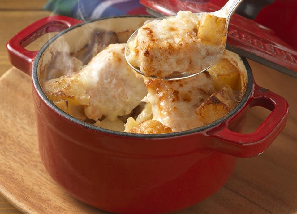 アトランティックサーモンとポテトのチーズ焼き
