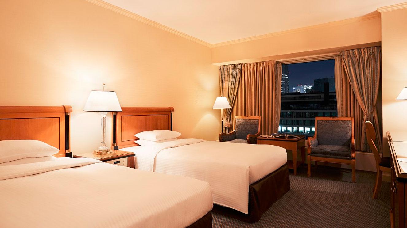 満ち足りたホテルライフを約束する、スタイリッシュで落ち着いた空間。
