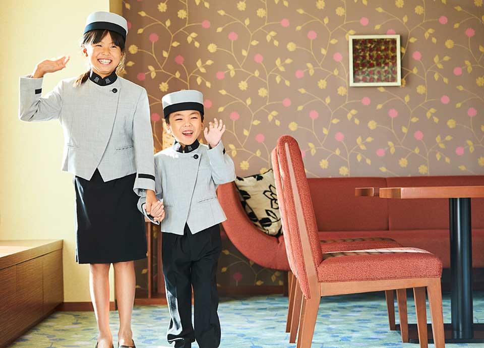 【1日1室限定】キッズハロウィン!ベルボーイ&ガールに仮装<br>【お菓子入りパンプキンバケツ特典付】