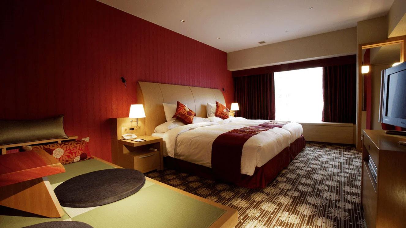 リーガロイヤルホテル(大阪)花フロア・テーマボタン デラックスツイン