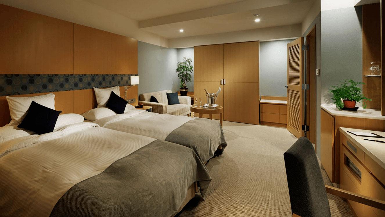 リーガロイヤルホテル(大阪)のスタイリッシュラグジュアリー デラックスツイン