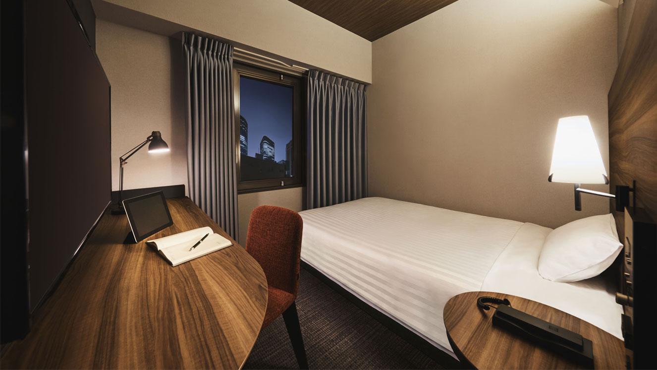 110cm~140cm幅のベッドを備えています。