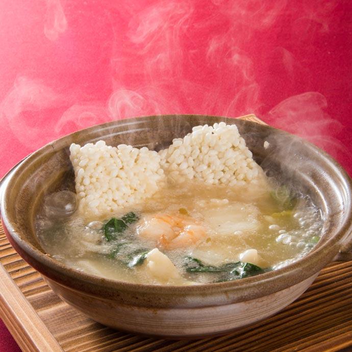 ふかひれと土鍋で味わう餡かけおこげランチ