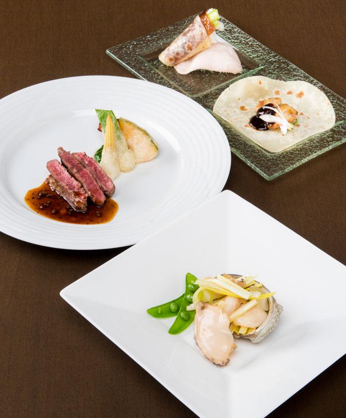 海鮮と国産牛フィレ、初夏を味わうディナーコース