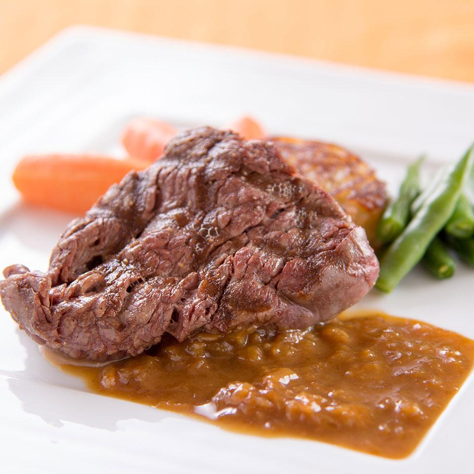 仙台牛ランプ肉網焼き ビール風味のソース