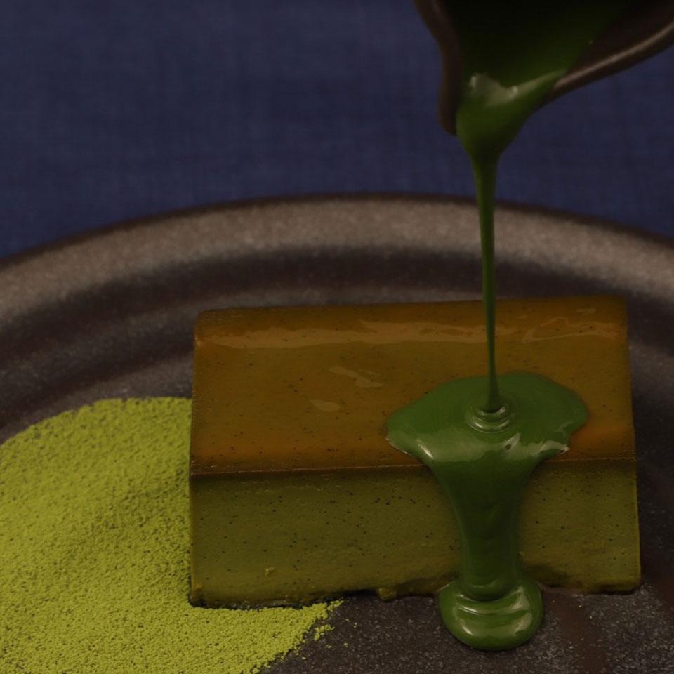 和束抹茶のプリン