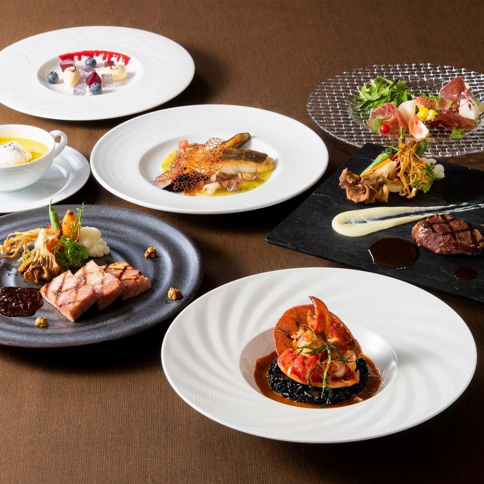 2皿から選べる魚・肉料理を全て掲載したイメージ写真です