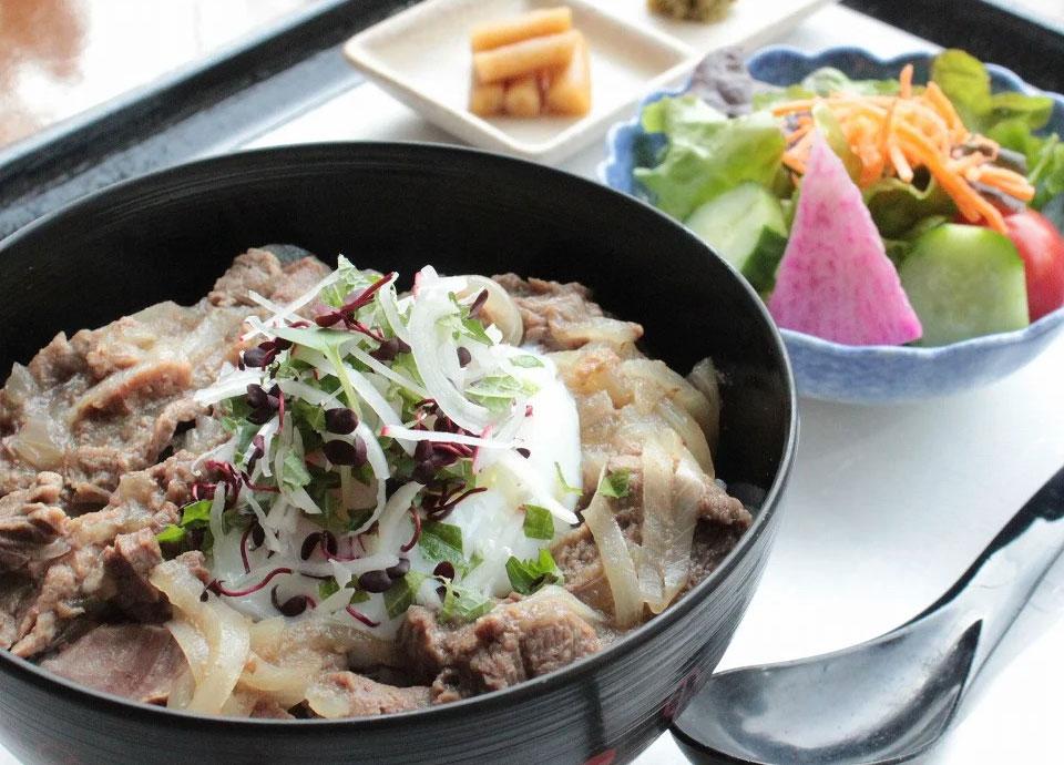 京風 塩牛丼