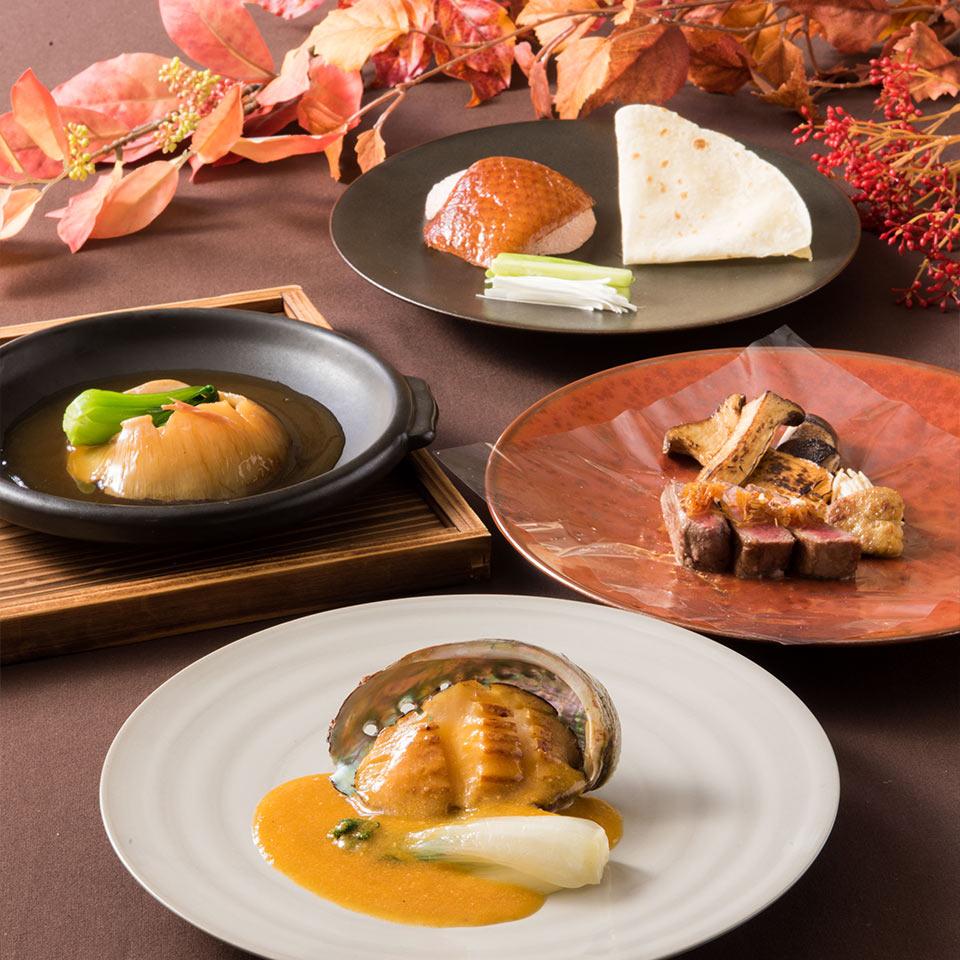 松茸、蝦夷鮑と黒毛和牛のディナーコース イメージ