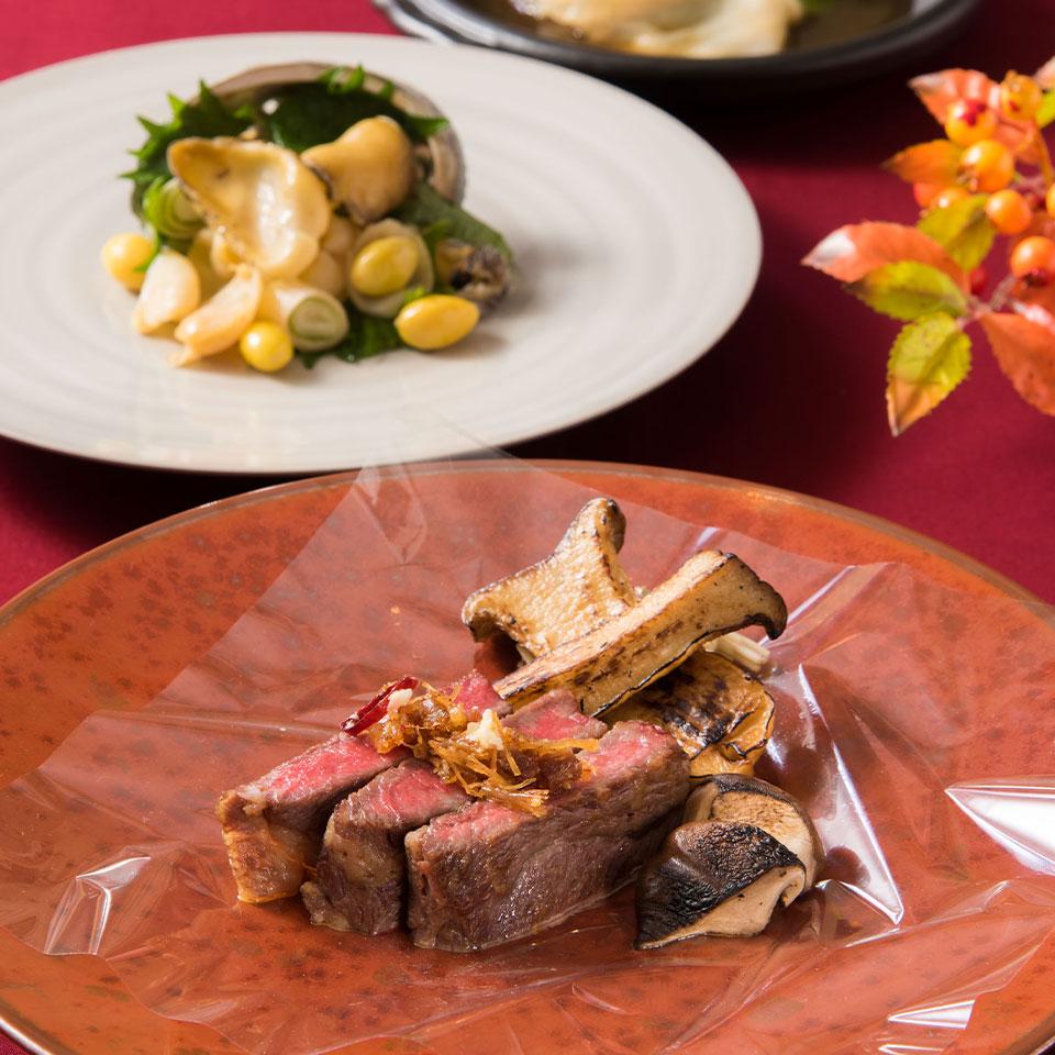 松茸と蝦夷鮑のランチコース イメージ