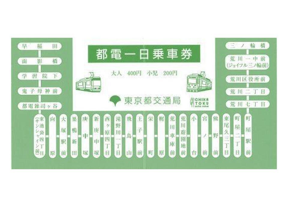 都電一日乗車券 イメージ