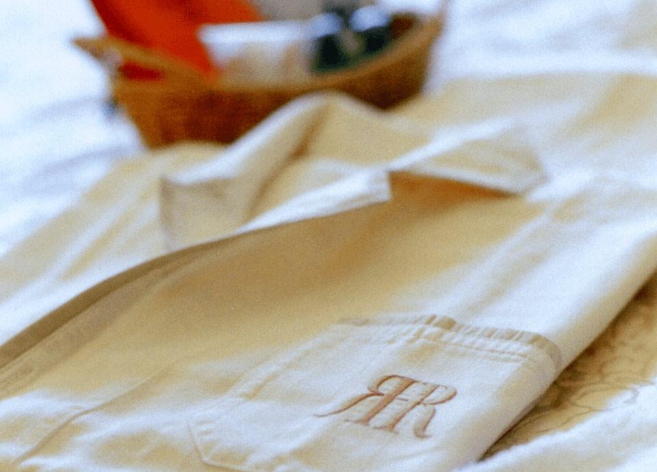 こだわりのアメニティ、<br>パジャマ エグゼクティブフロア専用のアメニティをご用意いたしました。