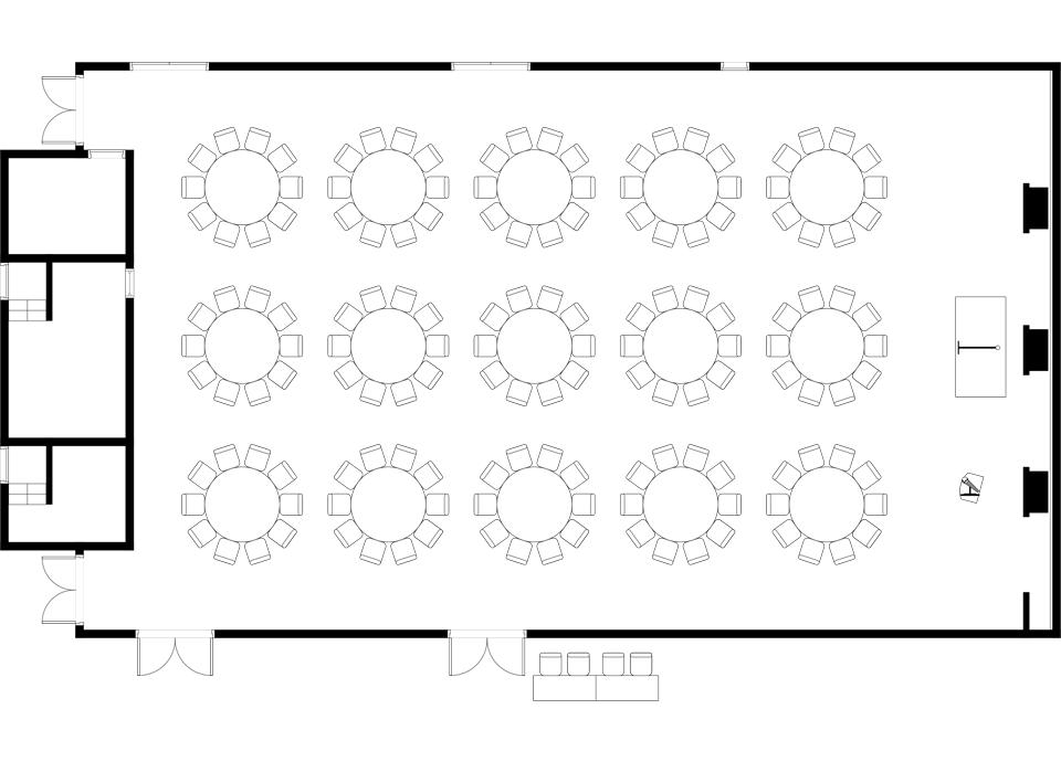 正餐 (丸テーブル) 150席