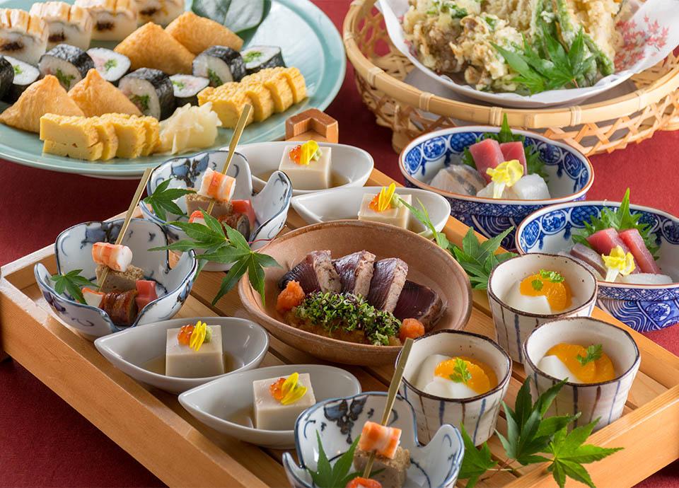 和食処 梅林「秋のプラン~清滝~」 大皿料理と飲み放題がセットになったプラン