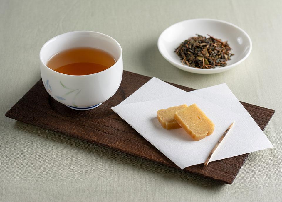 五島つばき茶 かんころ餅付き